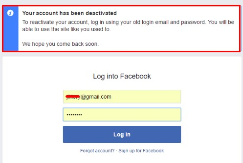 If I Deactivate My Facebook Account Can I Reactivate It
