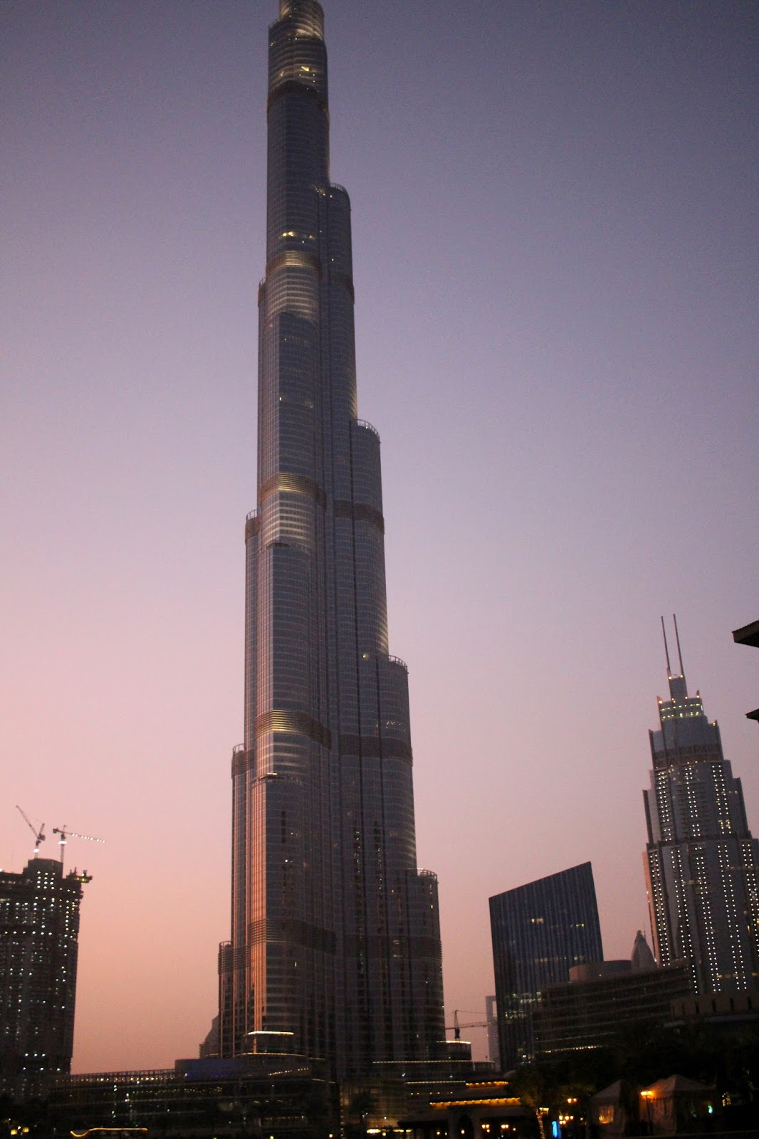 dubai burj khalifa summer sunset