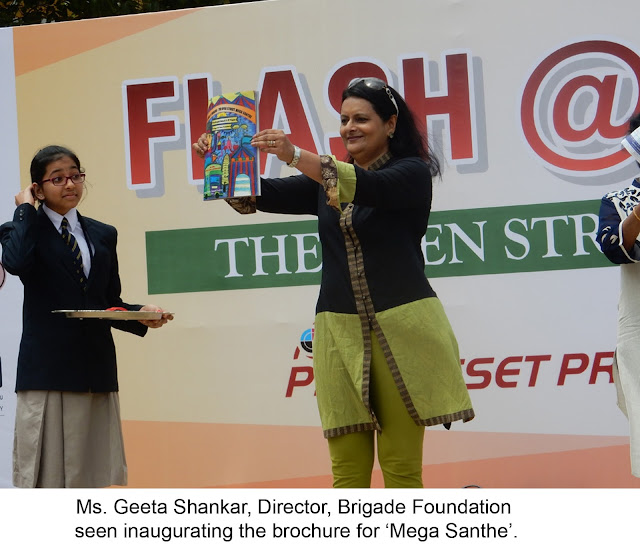 Flash @ Brigade – The Open Street Mega Santhe conducted by the Children of The Brigade School @ J P Nagar