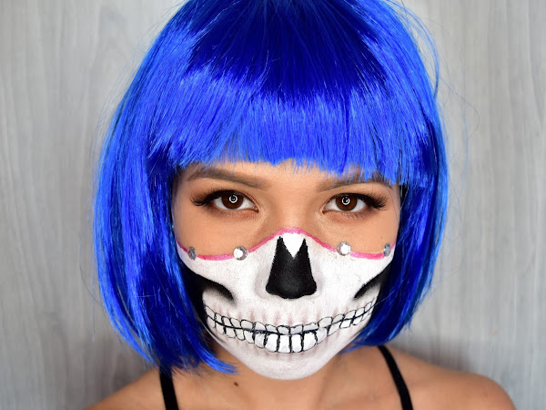 Halloween makeup look - Glam Skull