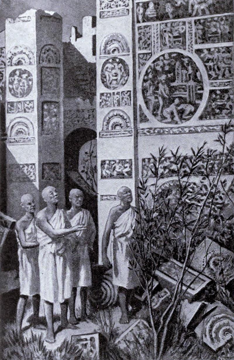 Fa Xian at the ruins of Ashoka palace