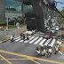 Protesto dos motoristas de UBER no entorno do Midway