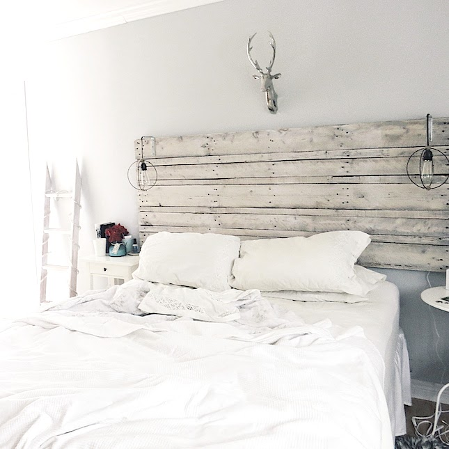 The Simply Inspired Blog Diy Pallet Headboard Instructions