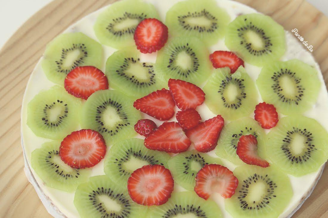 Receta de tarta de yogur y frutas