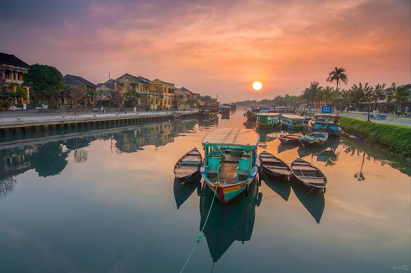 Barcas en Hoian - Vietnam