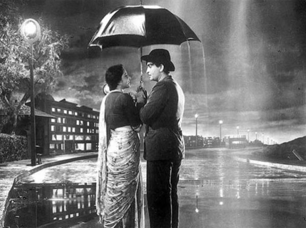 Romantic Bollywood Love Couple Black & White Image