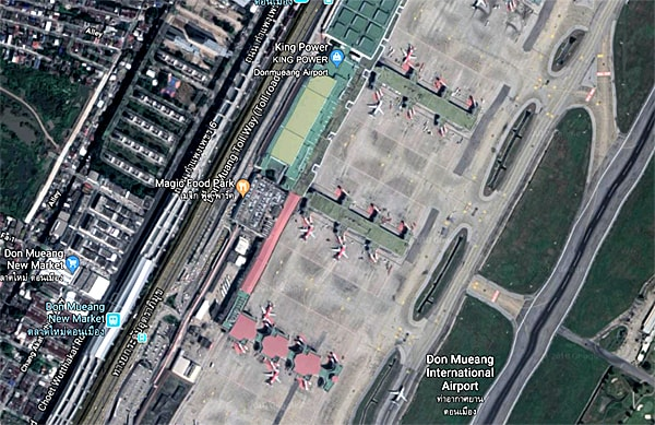 Departure Gate Layout Map Don Mueang Airport