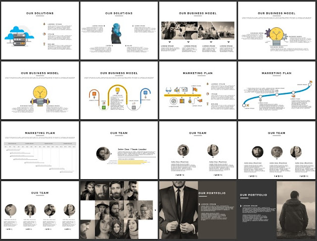 Multi Purpose Best and Free Powerpoint 4x3 Template [CODE] Slide 33-48