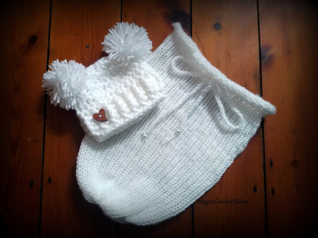 Newborn Swaddle Sack With Hat Photography Prop Photo