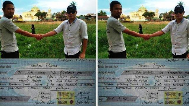 Viral Pendukung Jokowi dan Prabowo Taruhan 1 Hektar Tanah, Ternyata Ada Niat Khusus di Baliknya