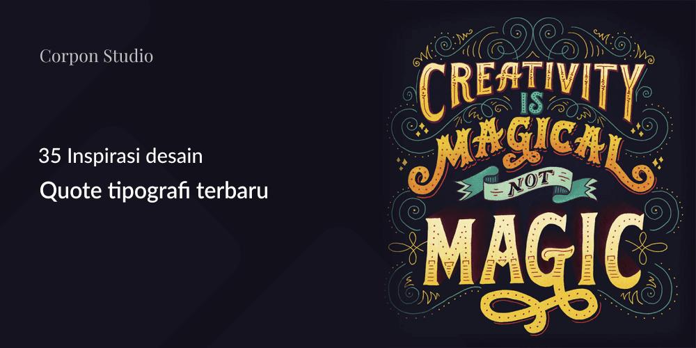 Inspirasi desain tipografi terbaik dan terbaru