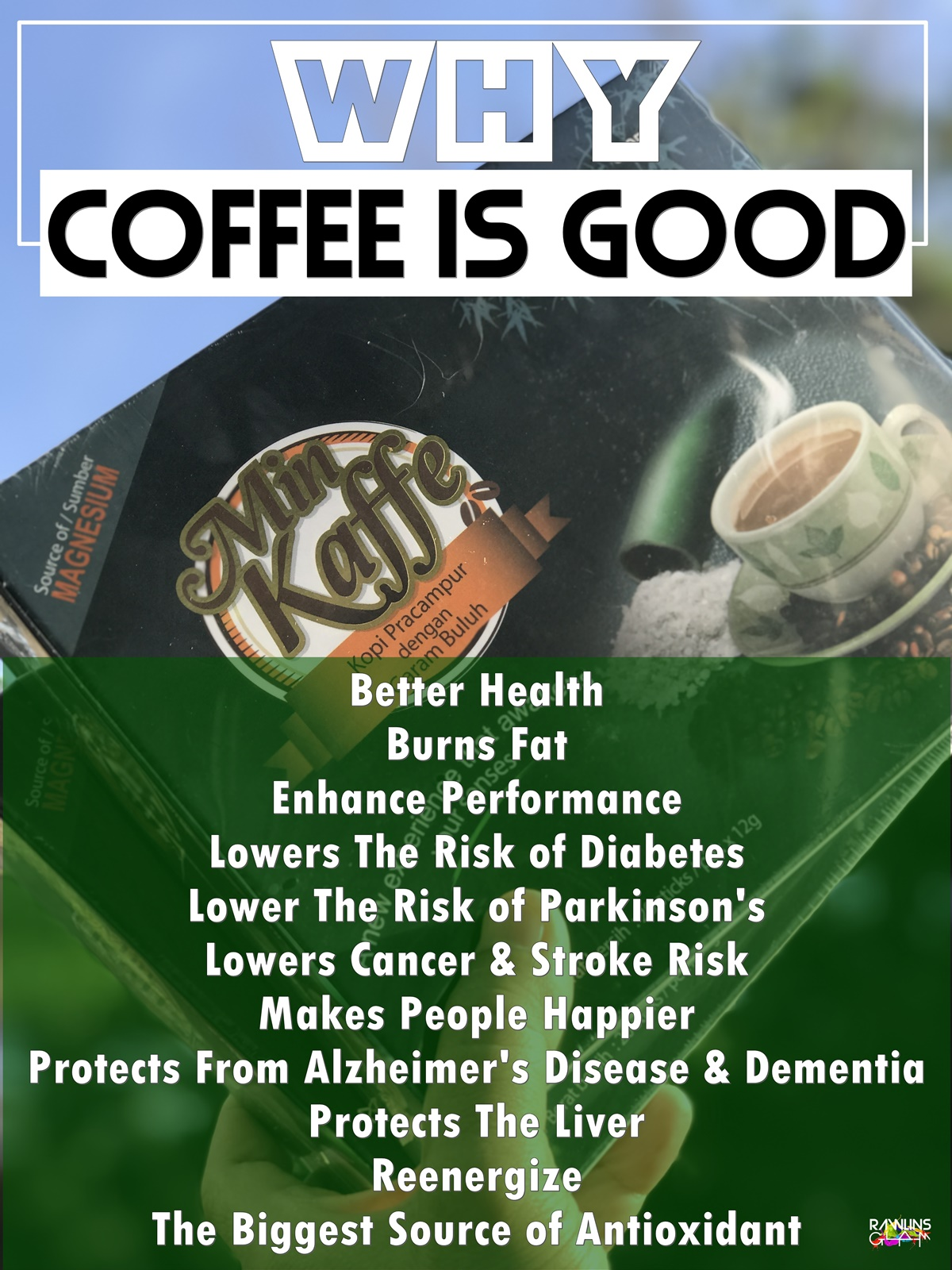 Min Kaffe, Antioxidants, Alzheimer' Disease, Happy People, Coffee Prevents Cancer, Min Kaffe Lowers Diabeter, Min Kaffe Untuk Kurus, Set Kurus Bajet, Rawlins GLAM, byrawlins, Hanis Haizi Protege
