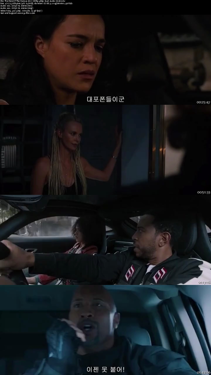 The Fate Of The Furious 2017 HDRip 480p Dual Audio Hindi