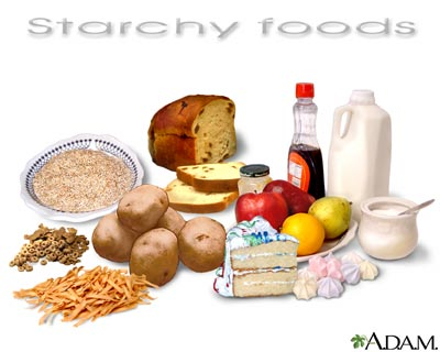 Starch Food Group List