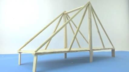 Cara Membuat Jembatan dari Stik Es Krim