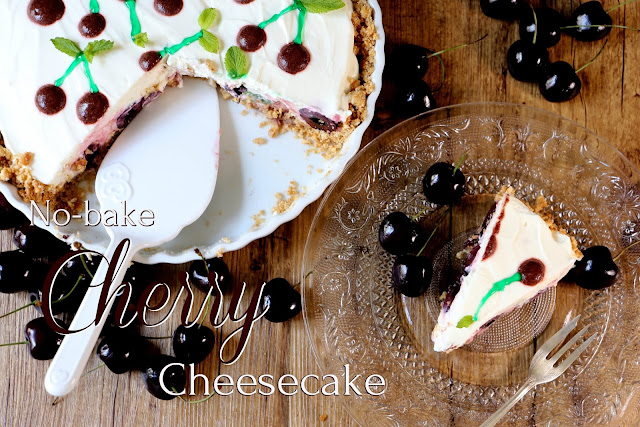 A little bit messy: No-bake Cherry Cheesecake