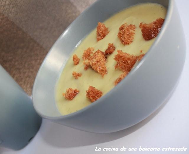 Receta de crema de puerro con calabacín