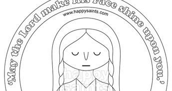 Happy Saints: St. Veronica Coloring Page Preview
