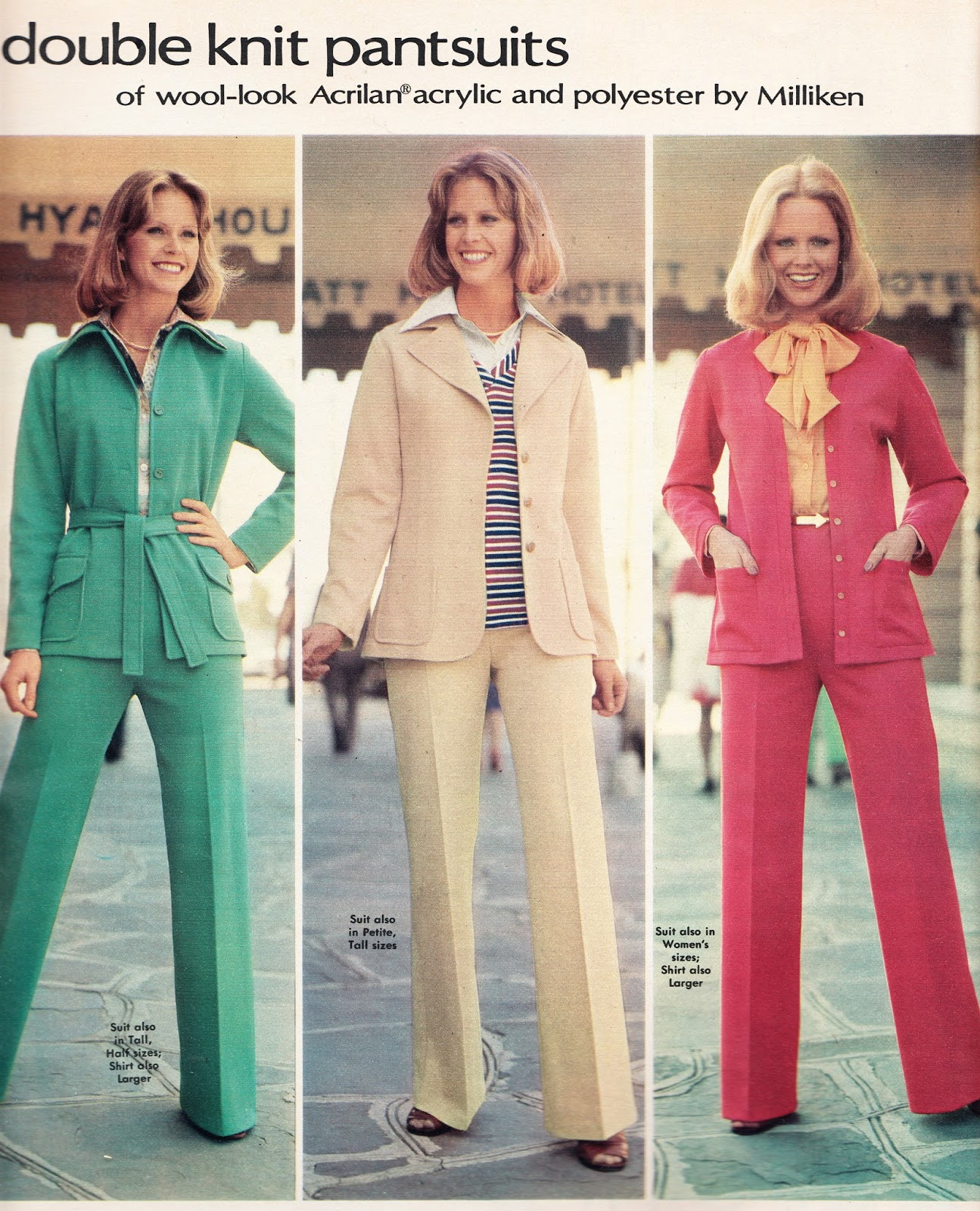 Women's 70s pantsuits