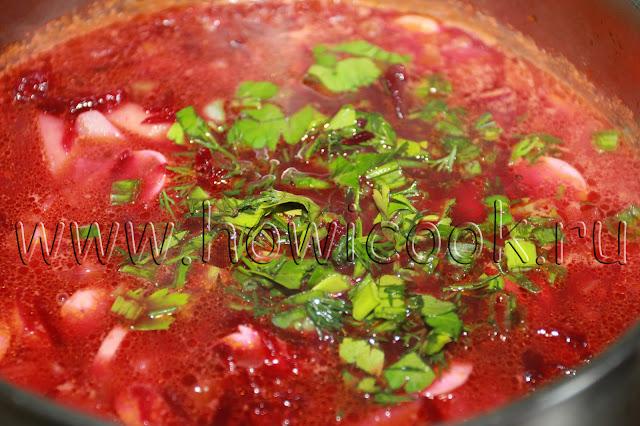 рецепт борща с сосисками с пошаговыми фото