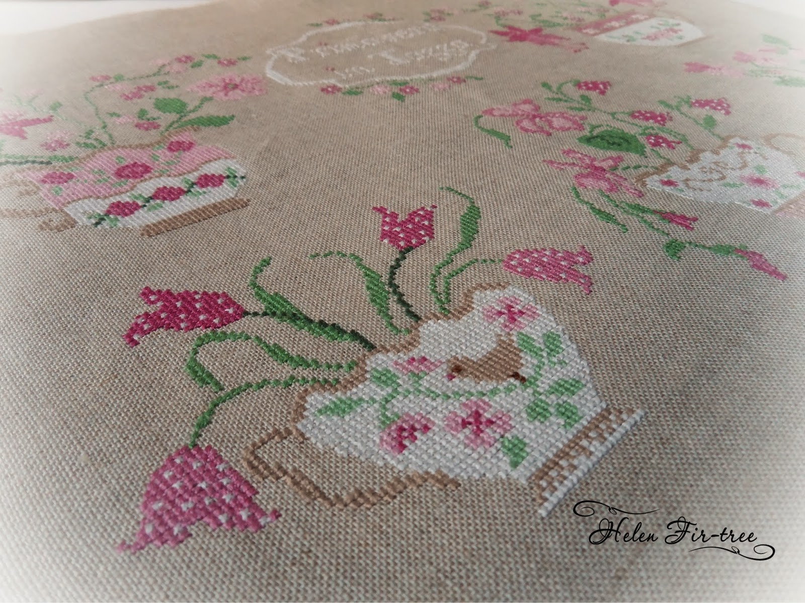 Helen Fir-tree вышивка крестом cross-stitch Primavera in Tassa