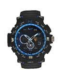 Mens Black Analog Digital Watch