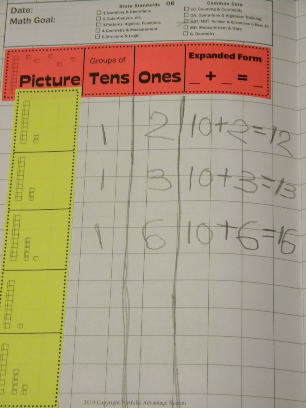 Tales From A Traveling Teacher K 2 Math Journals Place Value