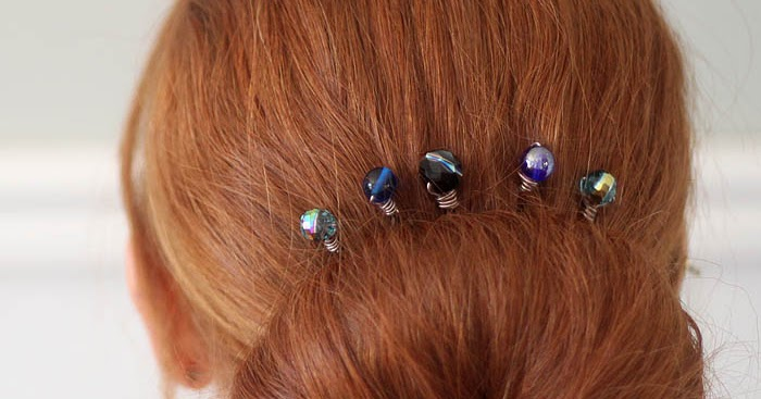 Wire Wrapped Beaded Hair Pins DIY | Gina Michele