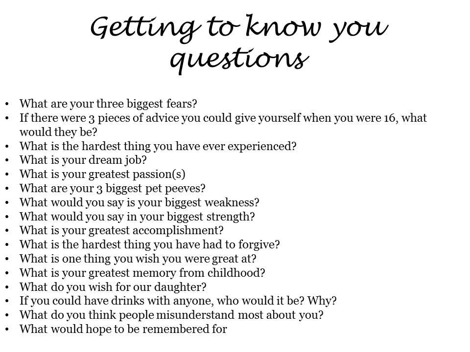 Interesting 21 questions