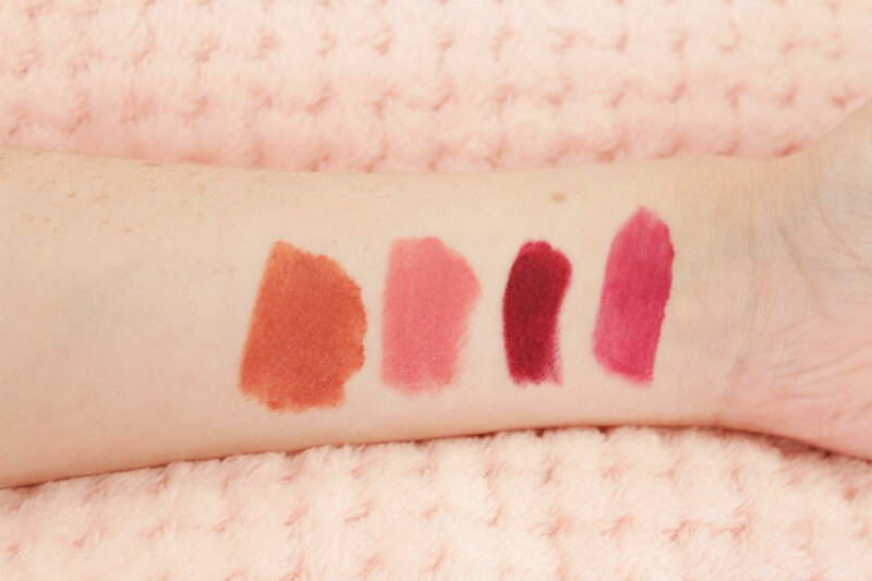 Four lipsticks for Autumn