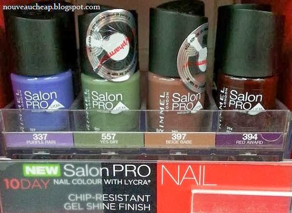 Spotted Amp Swatched New Rimmel Salon Pro 10 Day Nail Colour By Kate Collection Nouveau Cheap