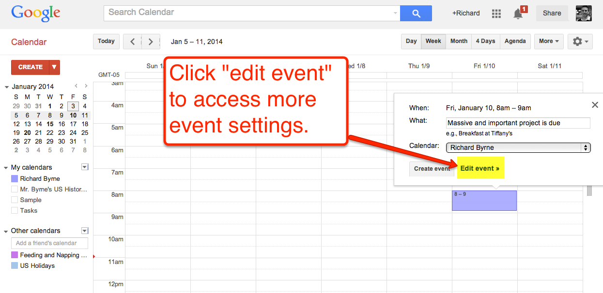 how to create google calendar event reminders tech school for teachers