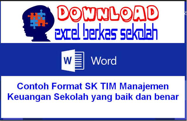 Contoh Format SK TIM Manajemen Keuangan Sekolah yang baik dan benar
