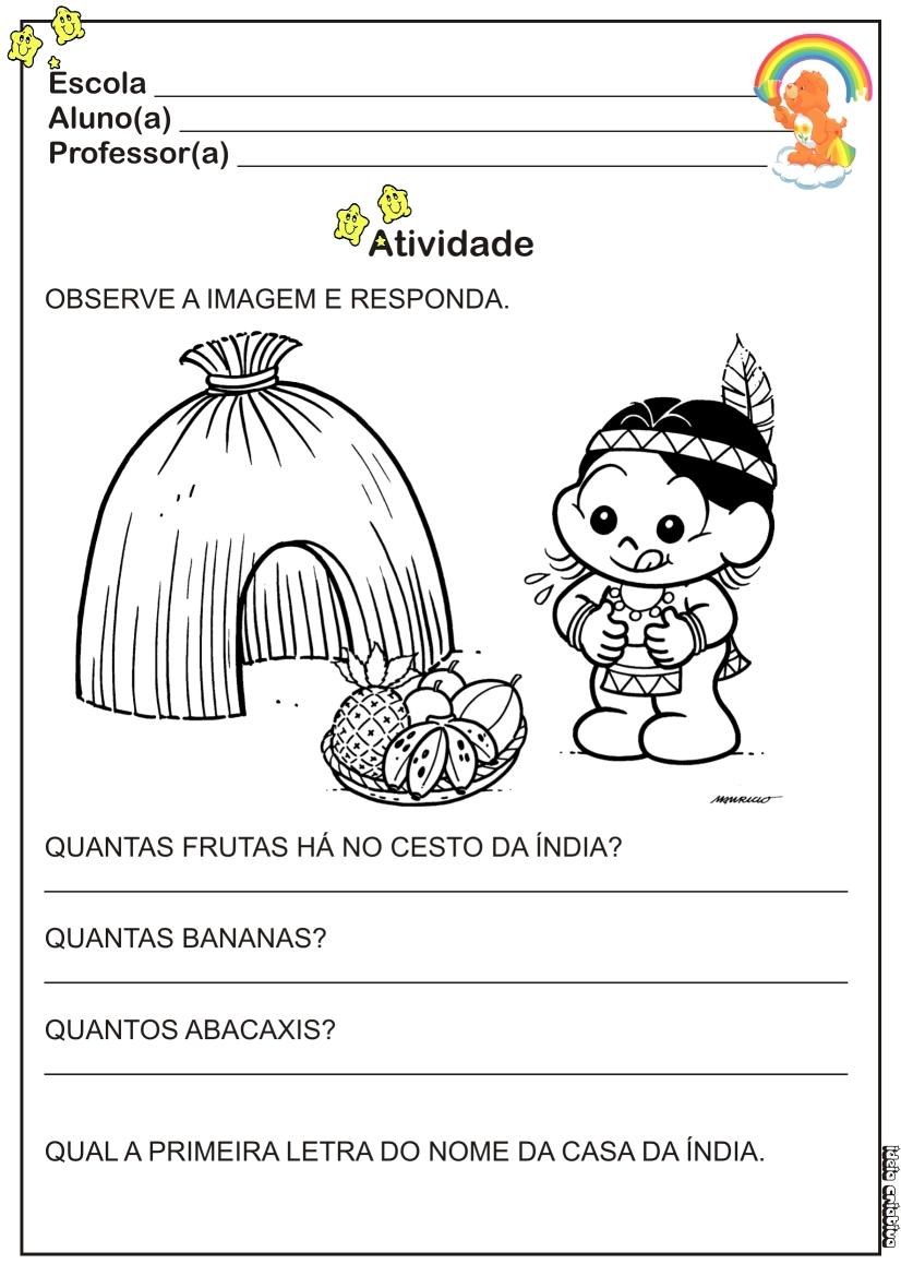 Atividade Dia Do Indio Educacao Infantil
