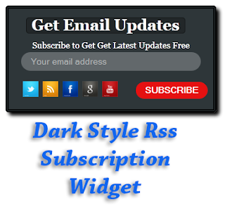 m gonna explicate how to add together nighttime fashion Feed Subscribe Widget Dark Style Rss Subscription Widget For Blogger