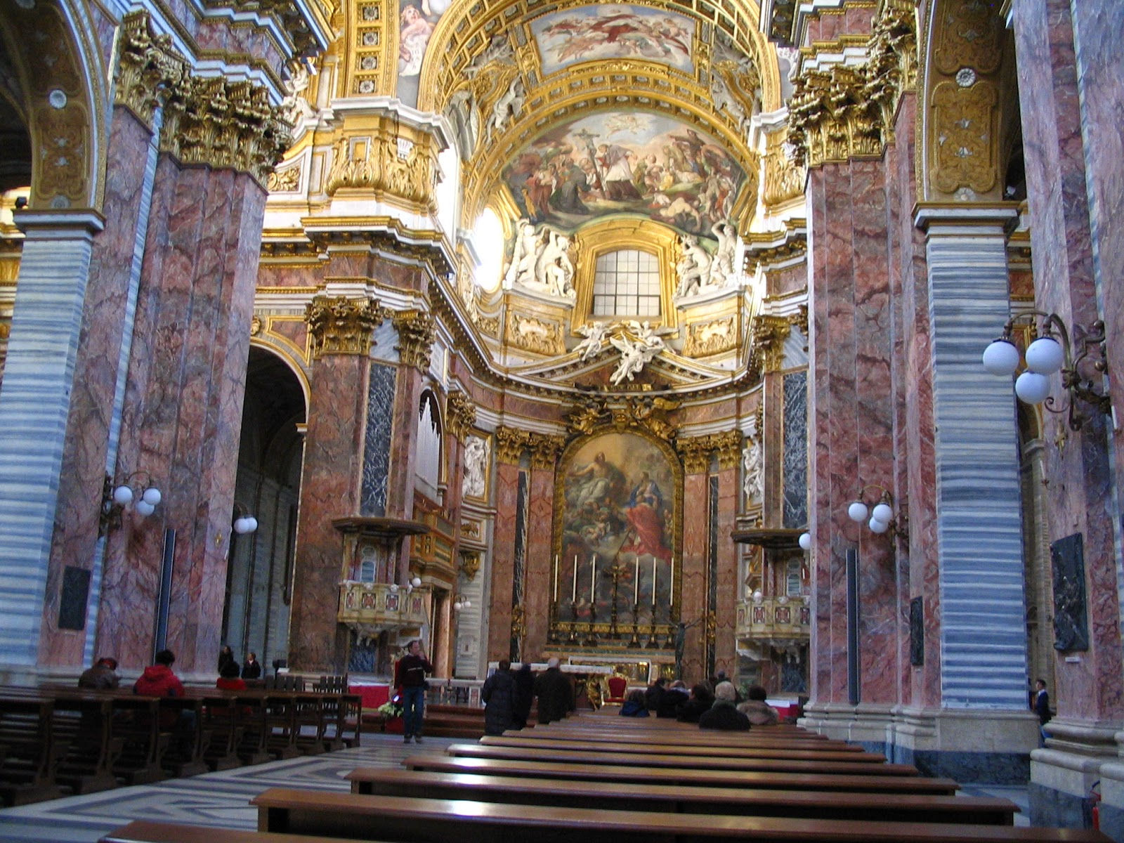 The interior of a church in Rome