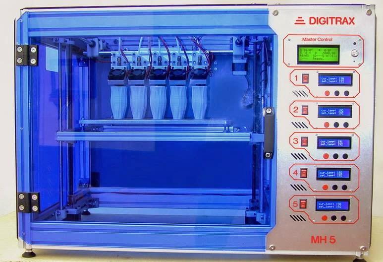 DIY 3D Printing: Digitrax3D MH5 3d printing copy machine