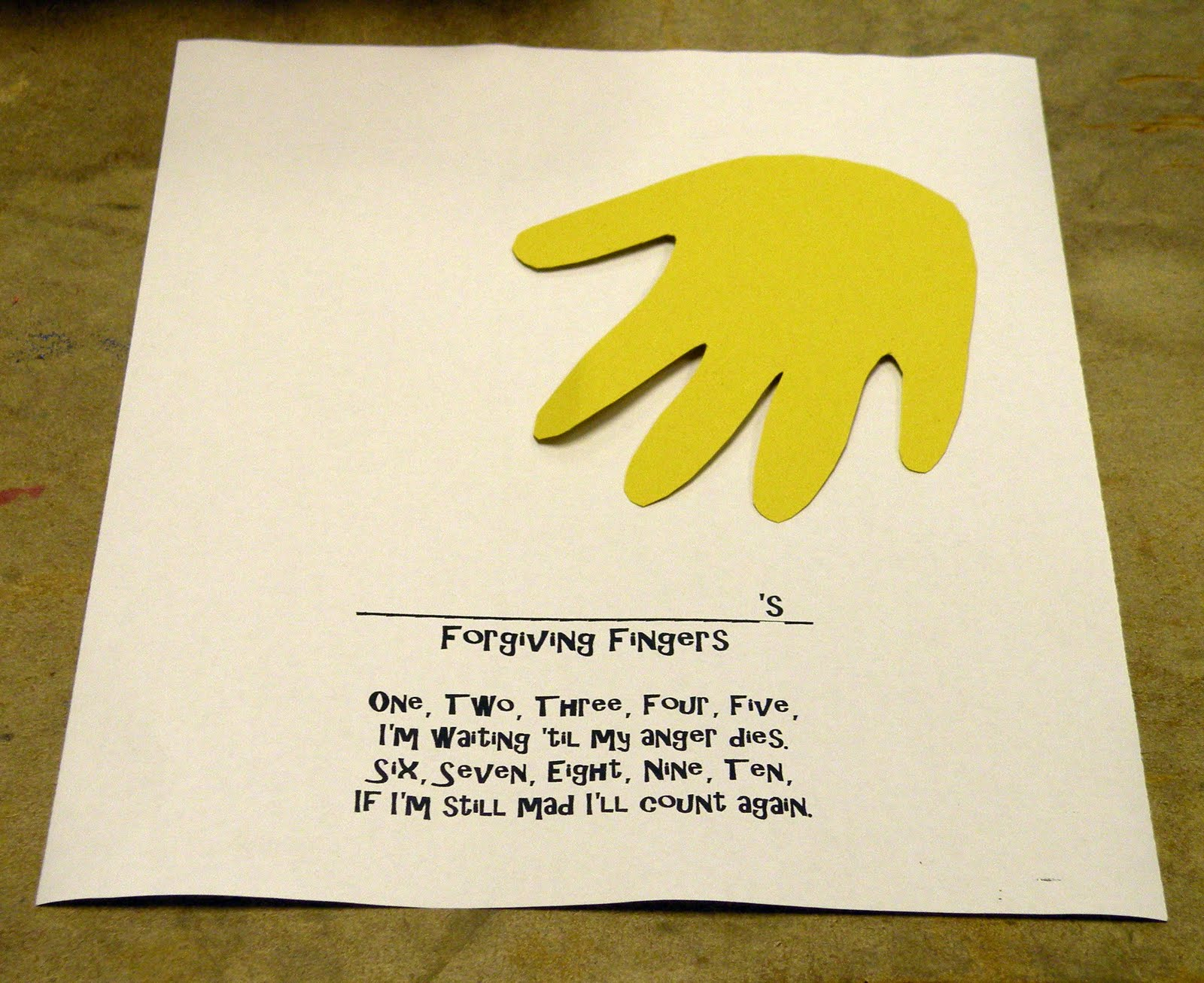 The Fantastic Five Bible Alive Tuesday Forgiving Fingers