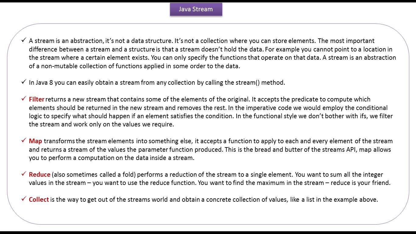 Java buzz forum important notes of java 8 stream java 8 important notes of java 8 stream java 8 streams tutorial java 8 streams streams in java 8 baditri Image collections