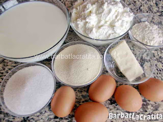 Prajitura simpla cu branza si gris ingrediente reteta