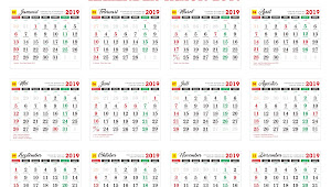 Download Master Kalender Tahunan Tahun 2019 Cdr