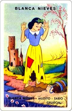 Juego Familias Walt Disney Carta Blancanieves 1