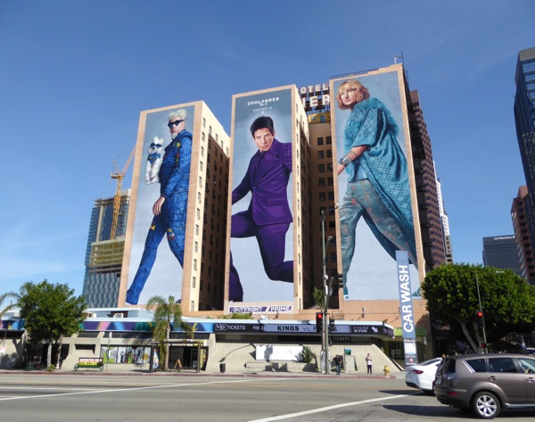 Giant Zoolander 2 movie billboards