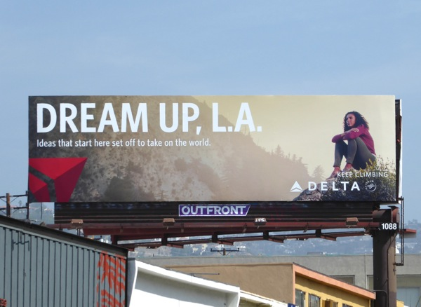 Dream up LA Delta Air Lines billboard