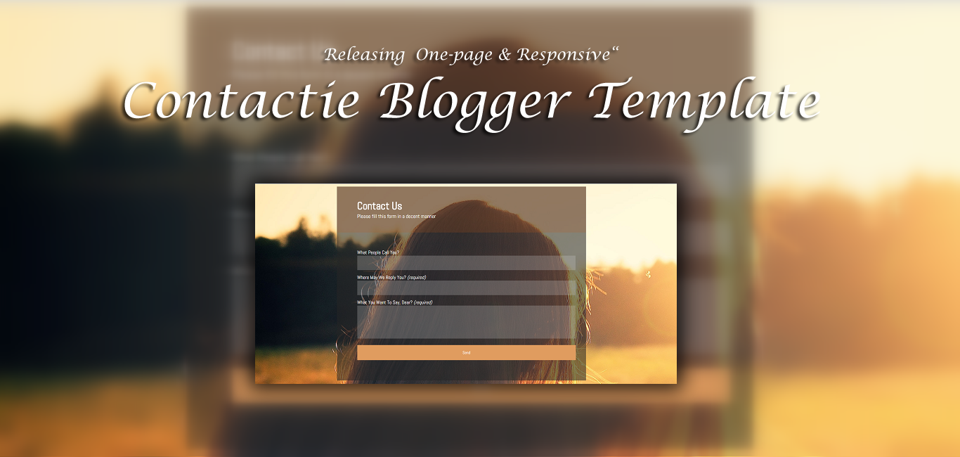 Contactie One page Blogger Responsive Template
