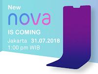HP Huawei Nova 2018 akan menggunakan fitur AI