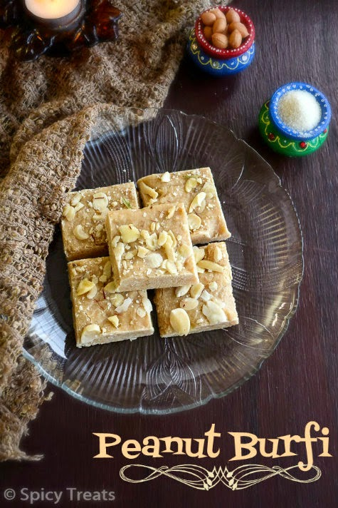 Peanut Burfi Recipe
