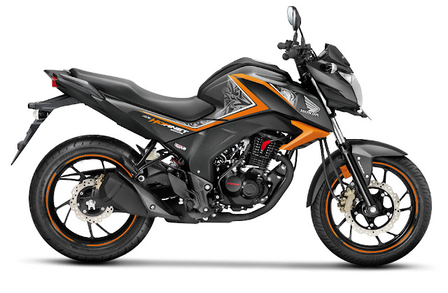 Honda cb orange hornet 160r