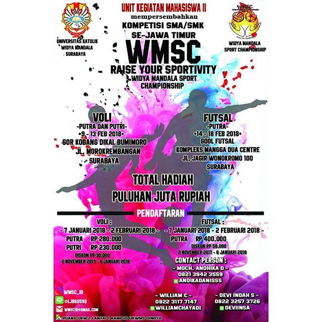 Widya Mandala Sport Championship 2018 Untuk SMA Sederajat