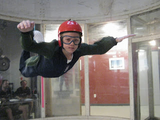 Tate in the wind tunnel